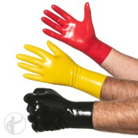 Rubber Wrist Length Gloves