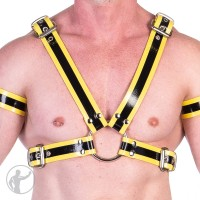 Rubber Upper Body Harness With Trim