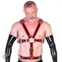 Rubber Full Body Harness With Trim