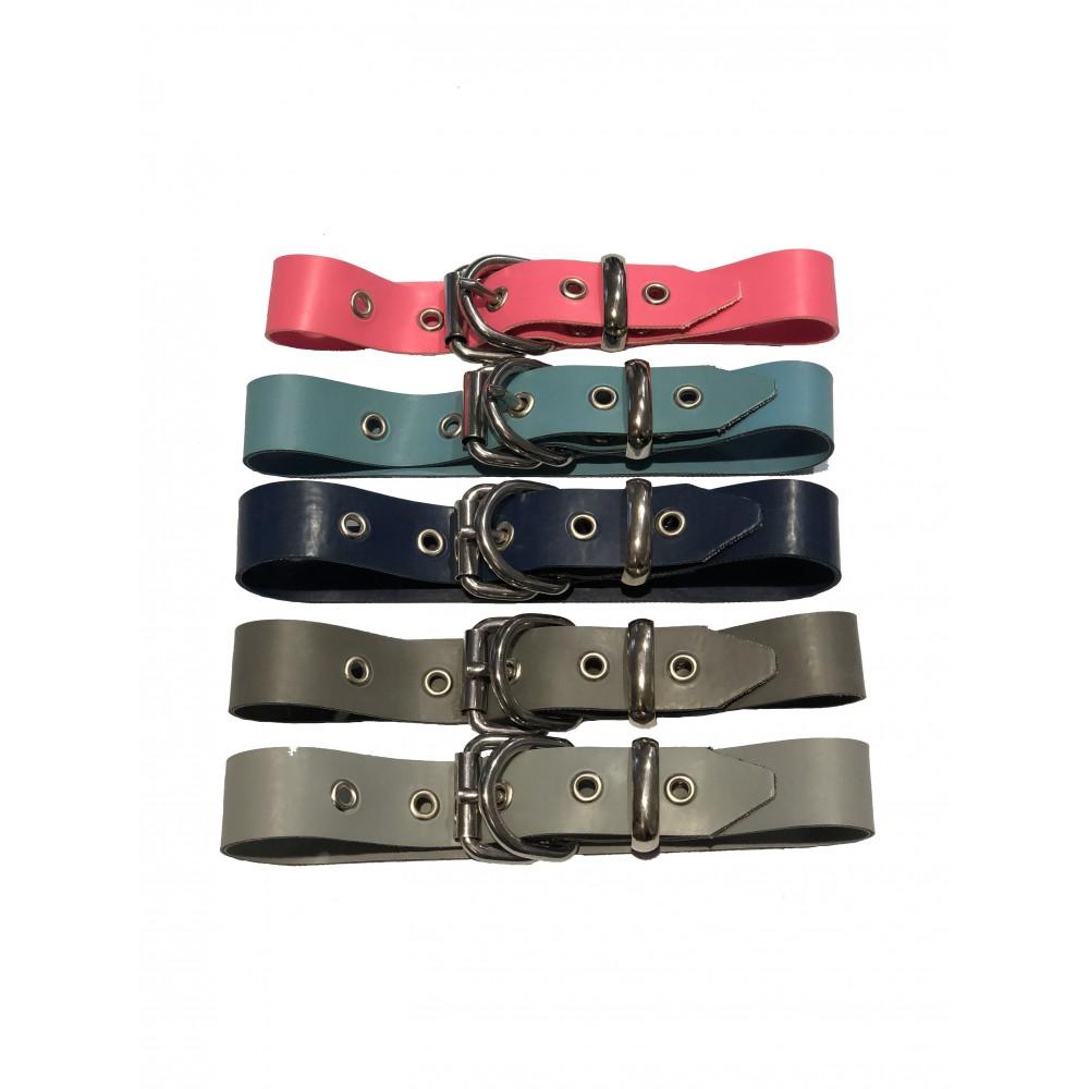 """Rubber Premium 2.5cm 1"""" Slave Collar D-ring 40cm = 15.5"""""""