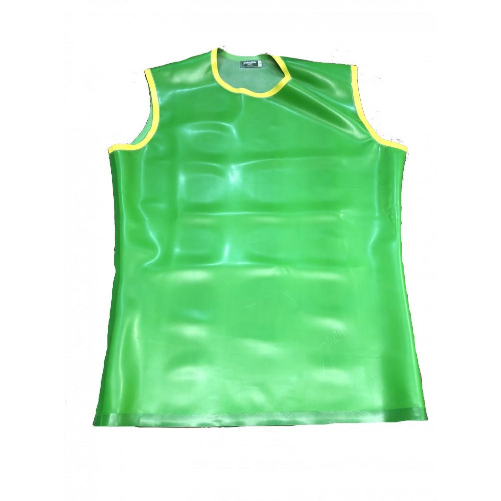 Rubber Sleeveless T-shirt With Trim Medium
