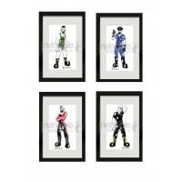 A set of 4 James Newland Framed Prints
