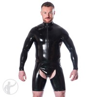 Rubber Cycle Chaps Suit