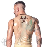 Rubber Biohazard Sleeveless T-shirt