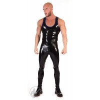 Rubber Tank With Trim & Thru Zip Leggings Set