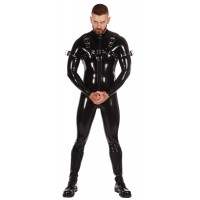 Rubber Catsuit Thru Zip Bulldog Harness & Buckle Up Armbands Bundle