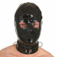 Rubber Hood Open Eyes Zip Mouth Large