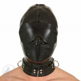 Rubber Hood Blindfold & Mouth Cover