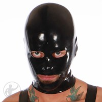 Repaired Black Rubber Anatomical Hood
