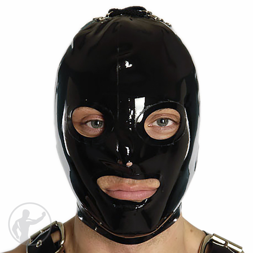 Rubber Gimp Hood Open Eyes & Mouth