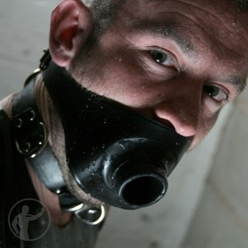 Rubber Hollow Piss Gag