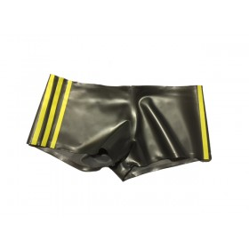 Rubber Boy Shorts Contrasting Stripes