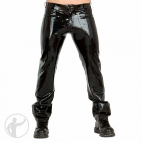 Rubber Low Rise Jeans