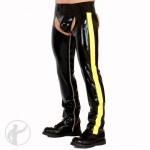 Rubber Chaps With Inside Leg Zips