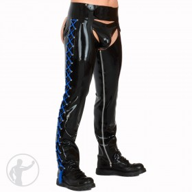 Rubber Chaps With Lace Up Sides