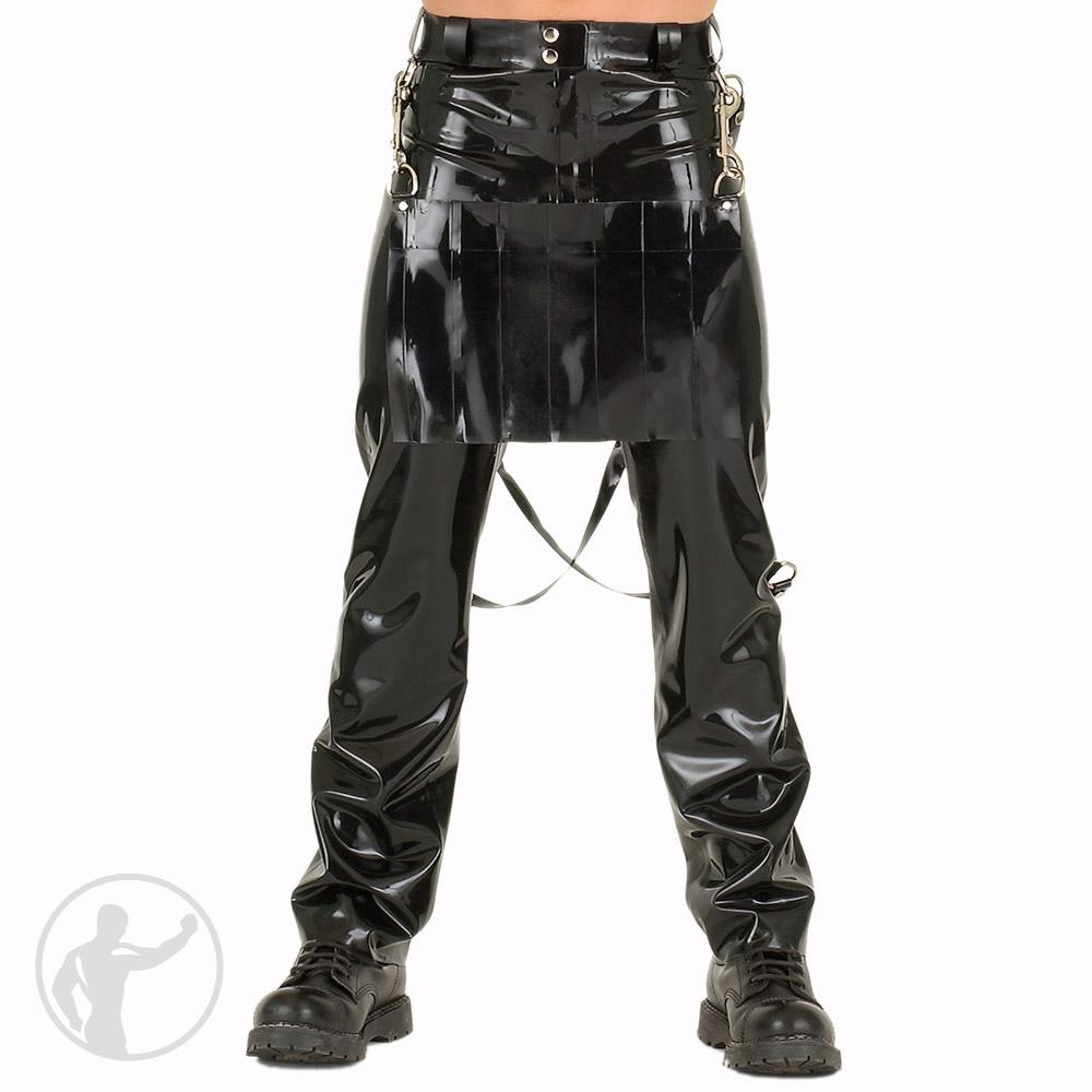 Rubber Bondage Jeans Front Kilt