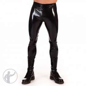 Rubber Leggings Thru Zip