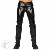 Rubber Chaps With Buckle Waist Band