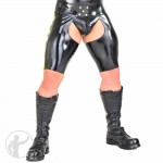 Rubber Skin Tight Chaps Shorts