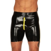 Rubber Cycle Shorts Contrasting Thru Zip