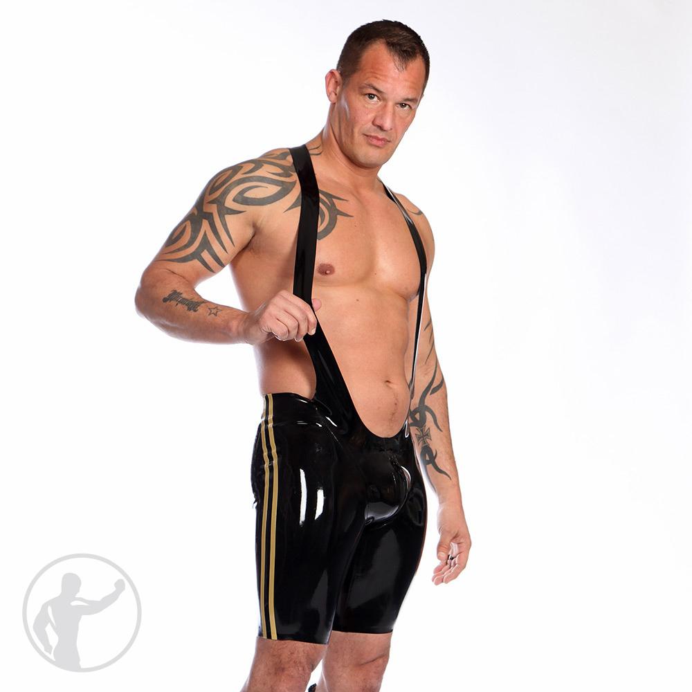Rubber Olympus Wrestler Singlet Thru Zip