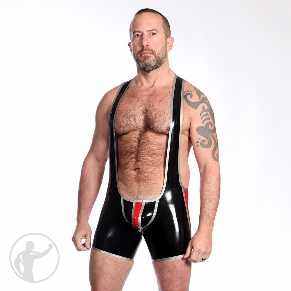 Rubber Backless Wrestling Singlet