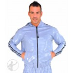 Rubber Hooded Tracksuit Top