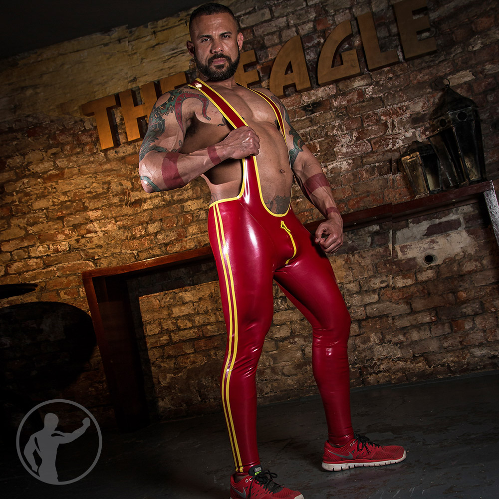 Rubber Pro Grappler Suit With Trim