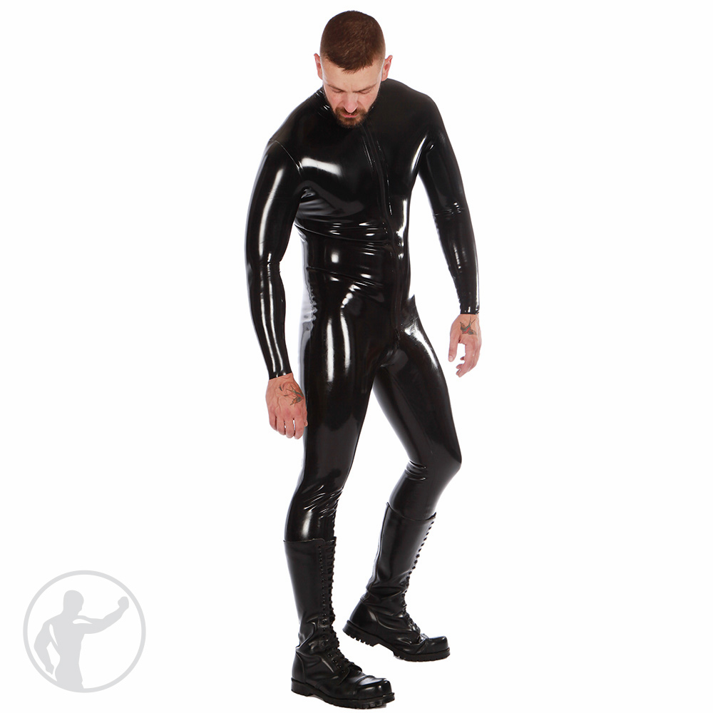 Rubber Catsuit With Thru Zip
