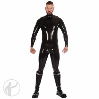 Rubber Zip Shoulder Catsuit with Cod Piece Custom Medium