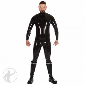 Rubber Zip Shoulder Catsuit