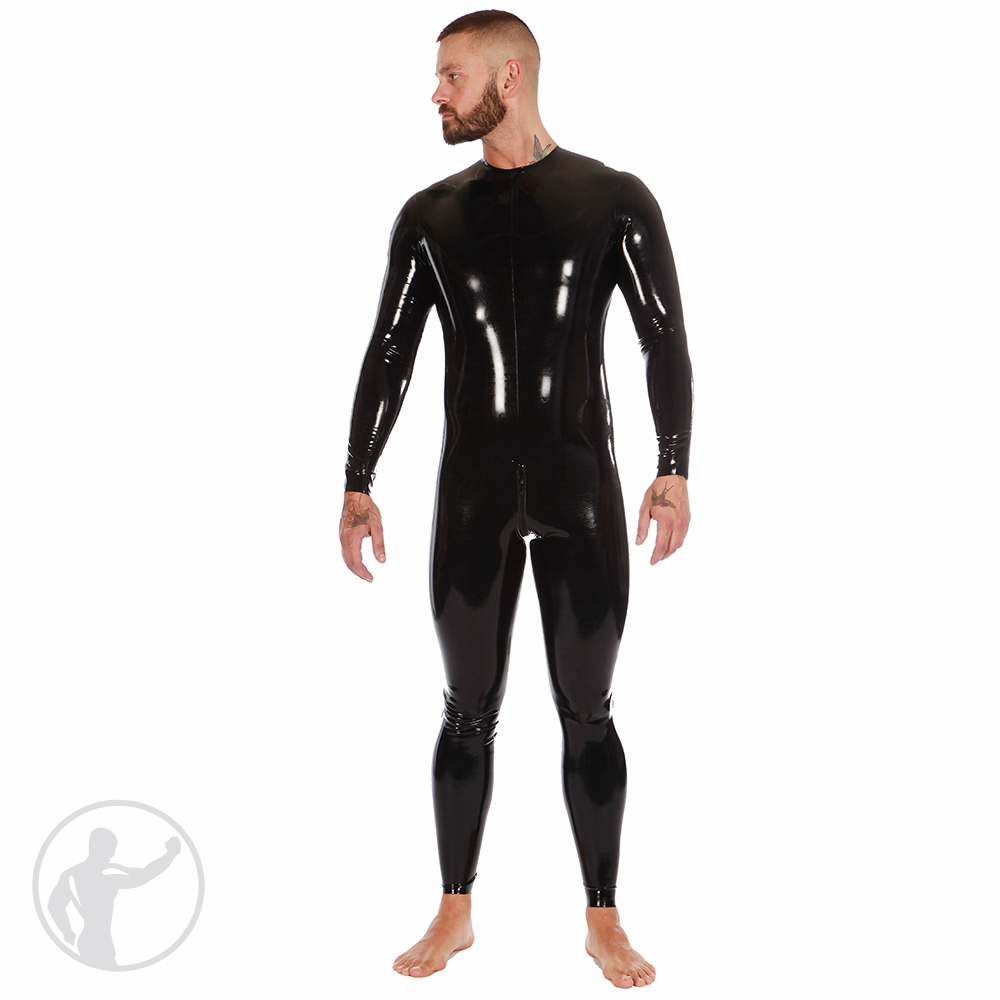 Rubber Neck Entry Catsuit Thru Zip