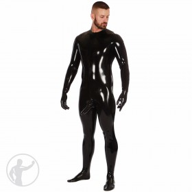 Rubber Neck Entry Catsuit With Attached Sheath Socks & Gloves