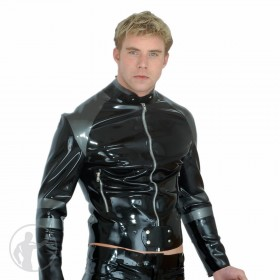 Rubber Biker Jacket