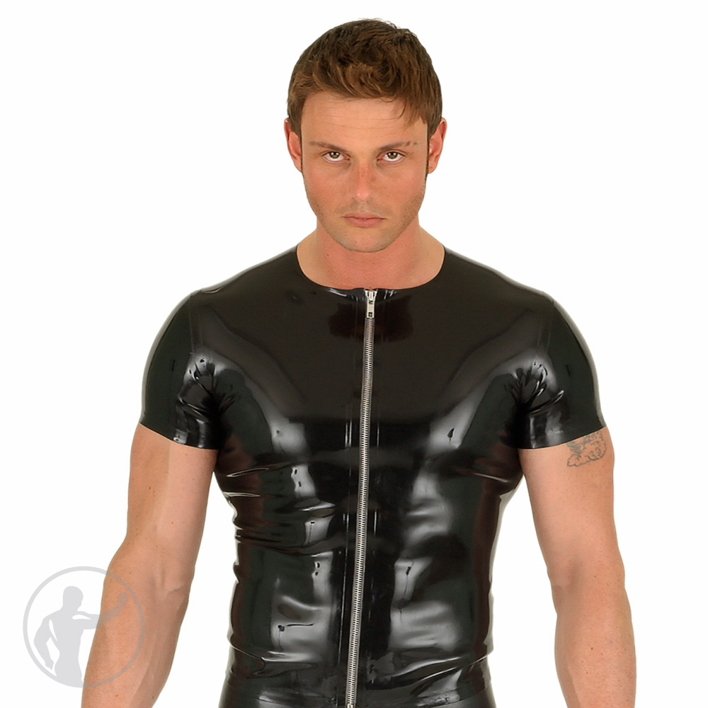 Rubber T-Shirt Front Zip