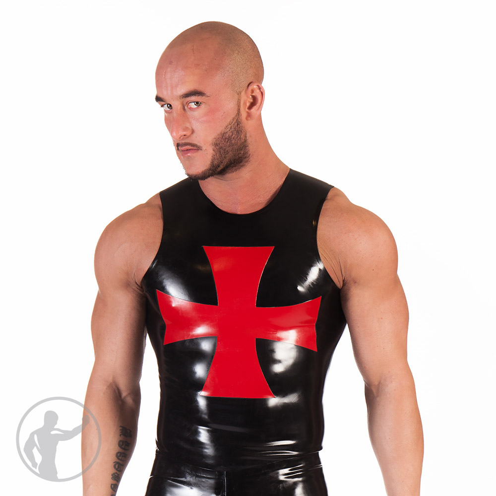 Rubber Muscle Top With Cross