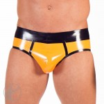 Rubber Contrast Brief Size: Medium