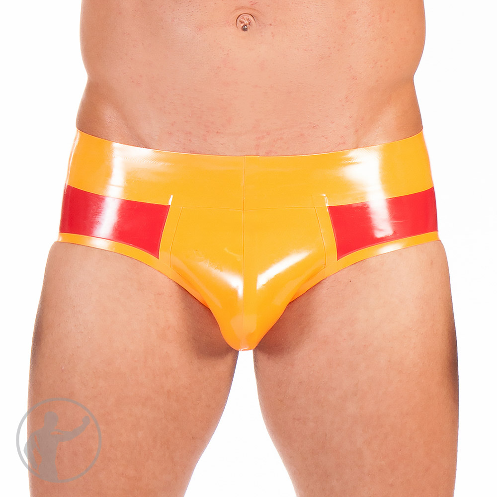 Rubber Low Rise Hip Briefs