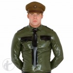Rubber Army Military Shirt Long Sleeves