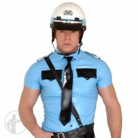 Rubber Law Enforcement Short Sleeved Shirt
