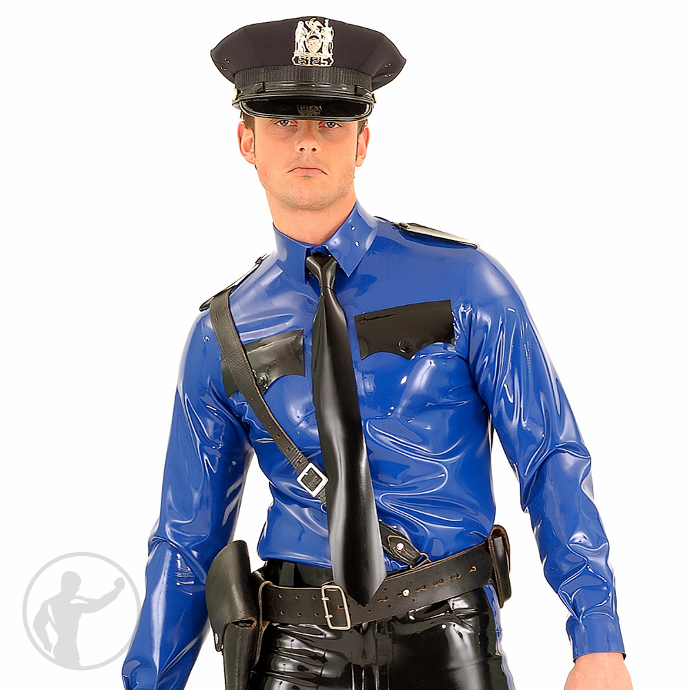 Rubber American Style Police Shirt