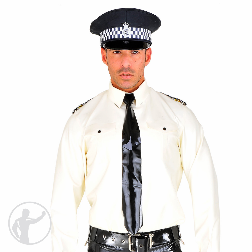 Rubber British Style Police Shirt