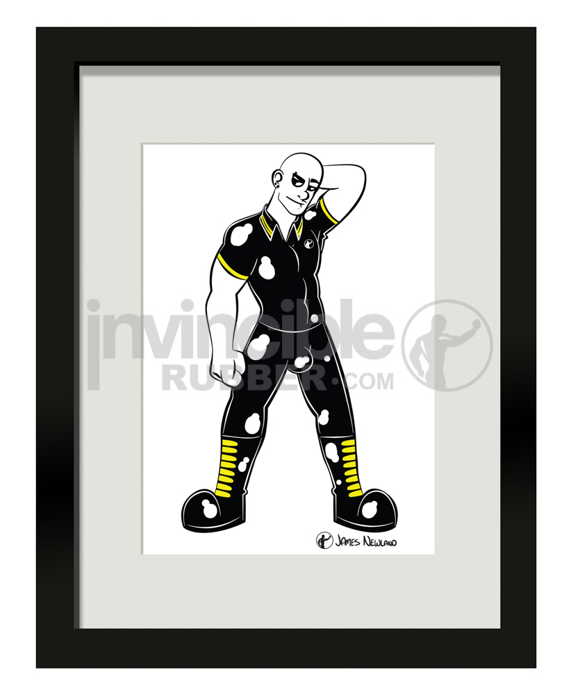 James Newland Framed Print With Rubber Skinhead Illustration