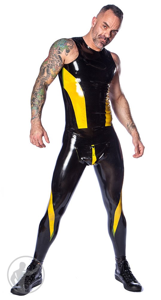 Rubber Vortex Sleeveless Top