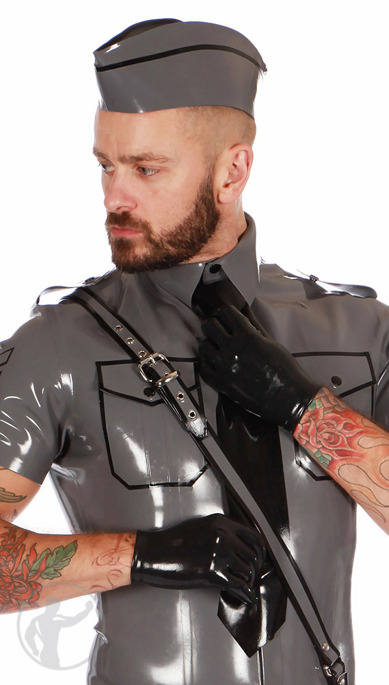 Rubber Interrogation Gloves
