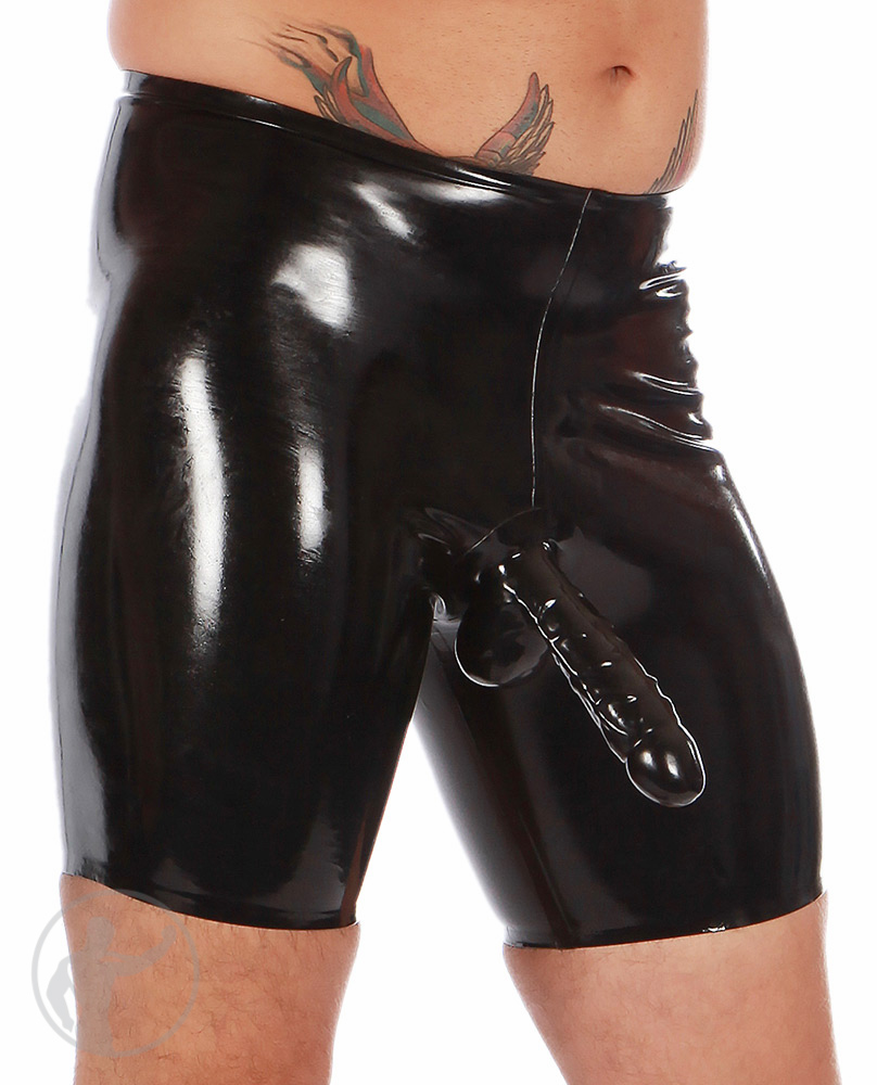Latex sheath shorts