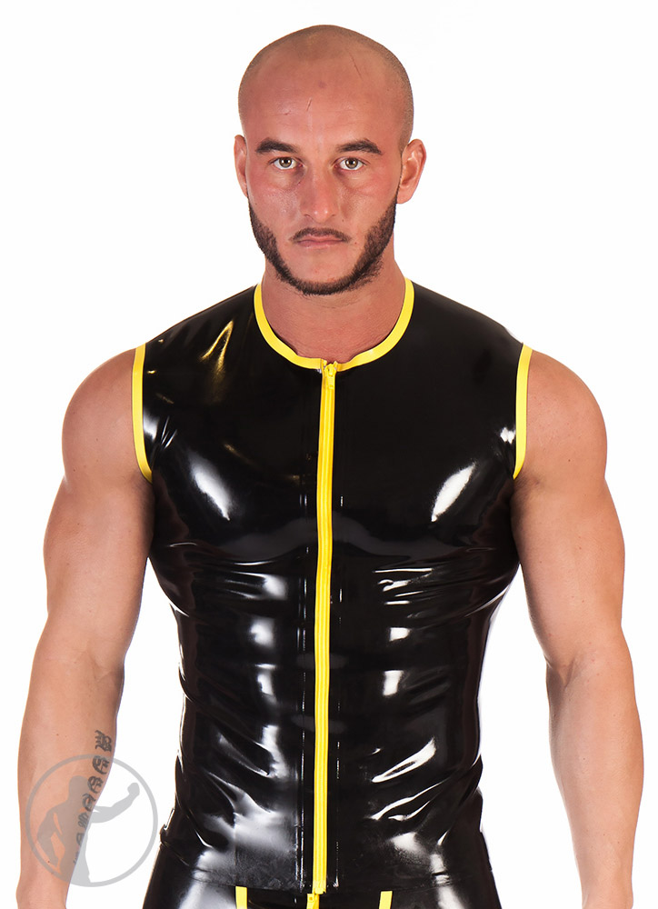 Rubber Zip Up Trim Top