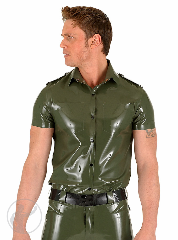 Rubber Army Style Shirt Short Sleeves